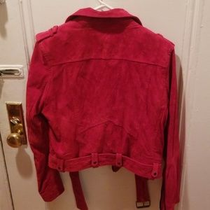 Blank NYC Jackets & Coats - Blank NYC Red Suede Leather jacket